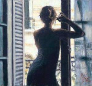 pintura 0 dona noia a la finestra 79879